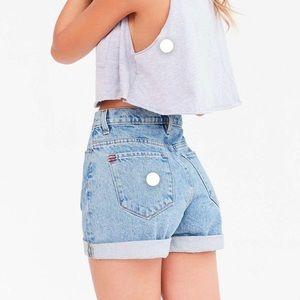 BDG Mom High Rise Denim Shorts